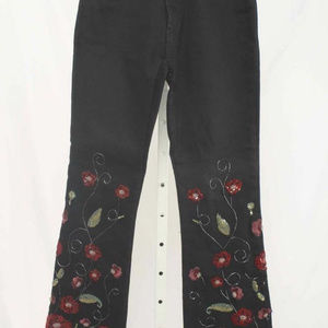 Parasuco Jeans - NEW Black poppy Embroidered beaded sequined jeans